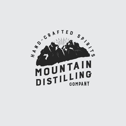 Logo for mountain distilling company