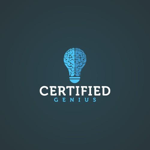 Creative logo for Certified Genius