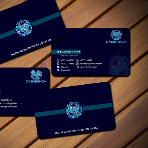 Creat a Business card and Sataioney for Cyberkov Information Technology
