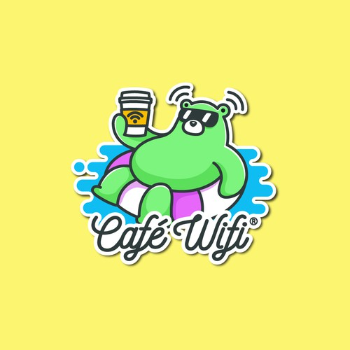 Fun creative sticker for a brand that finds a perfect Wi-fi for you