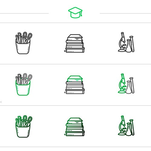 """Set Icons """"Back to School"""""""