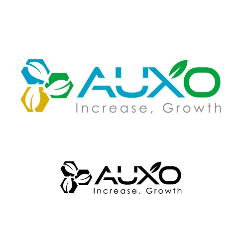 clever and simple logo for Auxo