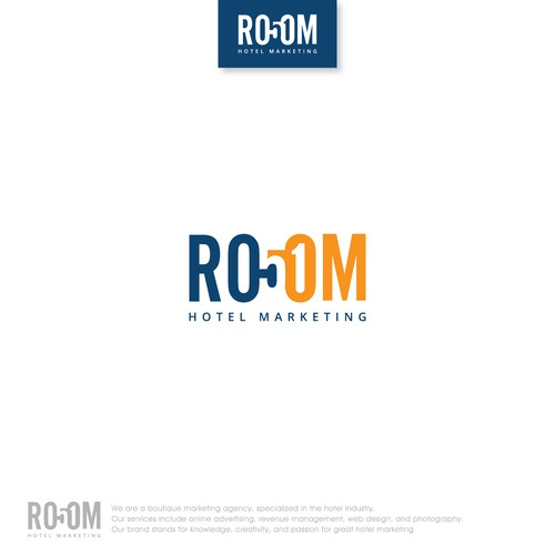 Room 51 - A clear and elegant logo for a marketing agency for boutique hotels.