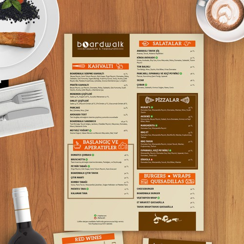 Hip Restaurant Menu
