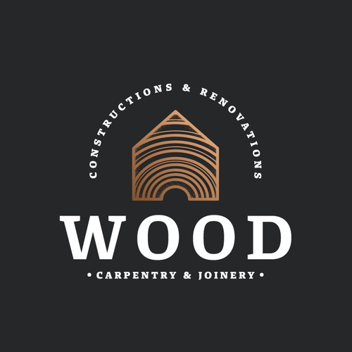 Sophisticated and unique logo for construction and renovation firm.