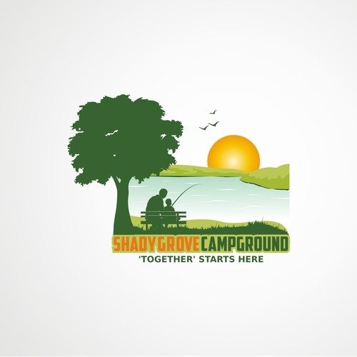 """New Campground Logo-- Needs to convey """"being together."""""""