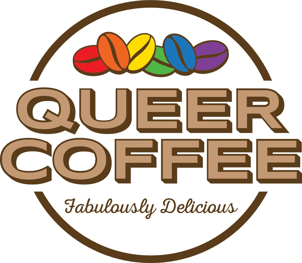 Queer Coffee Needs Logo - LGBTQ+ coffee lovers encouraged!