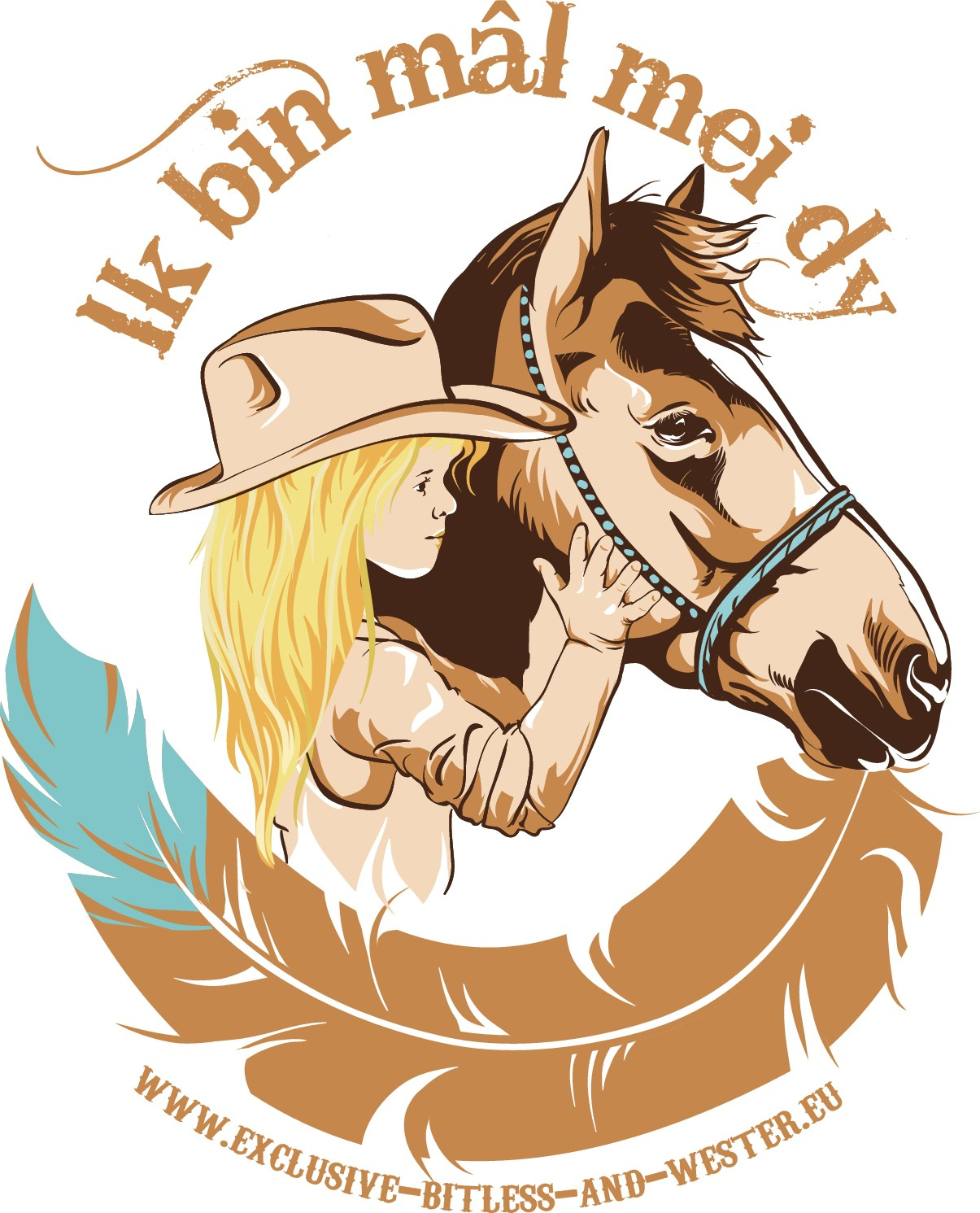 Cowgirl quote @ logo