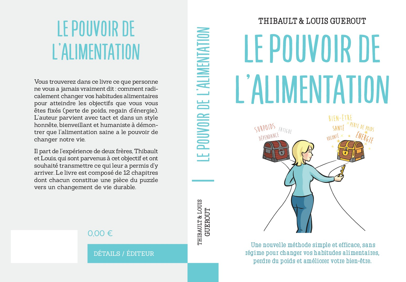 Création d'une couverture de livre dans le domaine de la nutrition