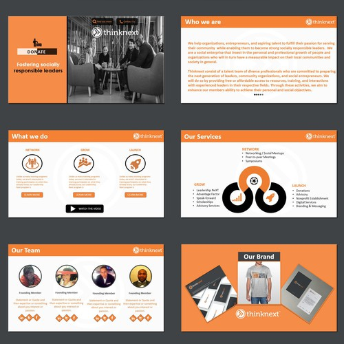 Thinknext Powerpoint template design