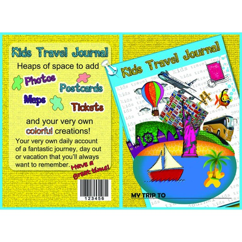 Book Cover for Kid's Travel Journal