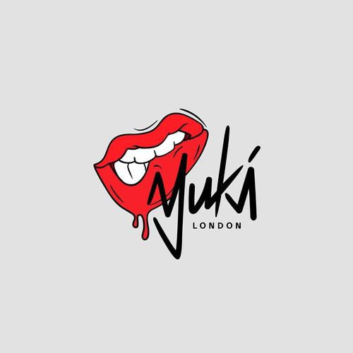 "Urban logo for streetwear fashion brand ""Yuki""."