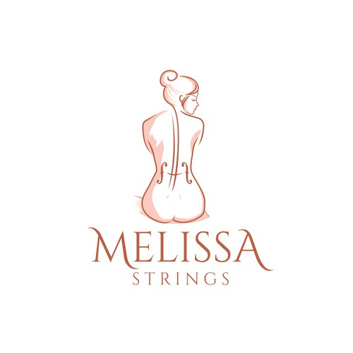 Professional logo for cellist