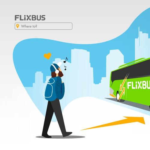 Flixbus Illustration