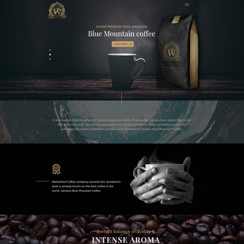 Luxury coffee website design