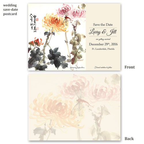 Classic & Elegant Wedding Save the Date Postcard