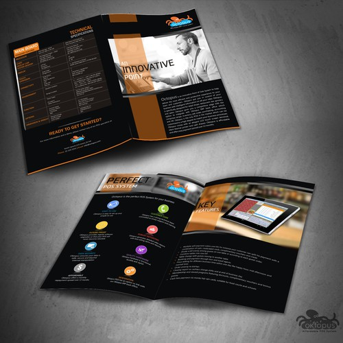 Create a classy and luxury look for a POS brochure