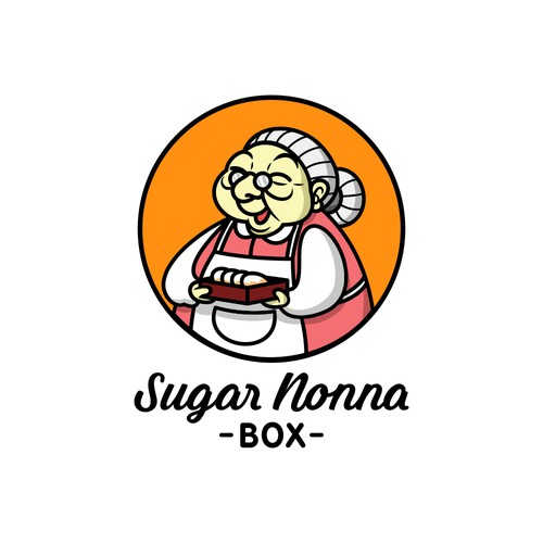 Character logo for an Italian Treats Store