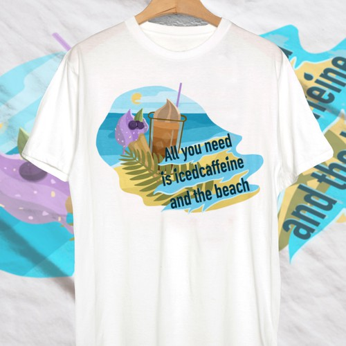 Design for beach t-shirt