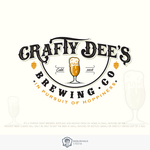 Bold Logo For Hand Crafted Beer