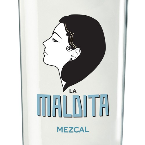 Maldita mezcal bottle packaging