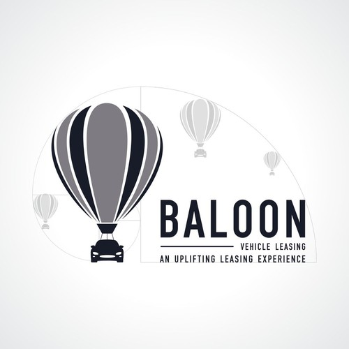 Balloon vehicle leasing :  bright, modern, fun and engaging car leasing firm logo