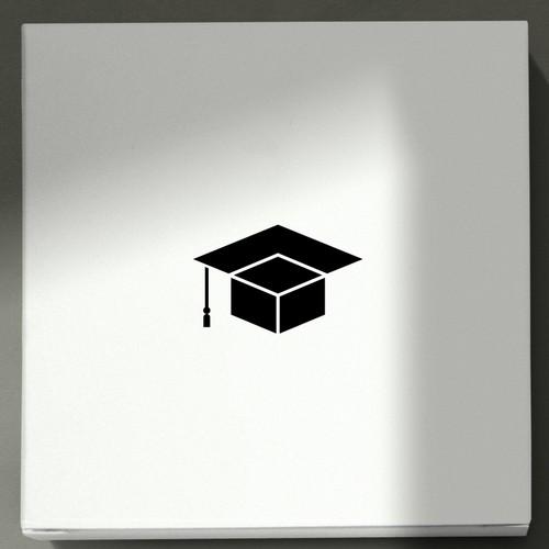 Simple logo design for box academy