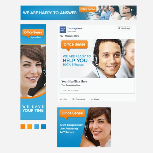 Banner Ads for Virtual Receptionist Services