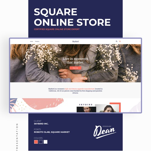 Square online store for women's high-end apparel