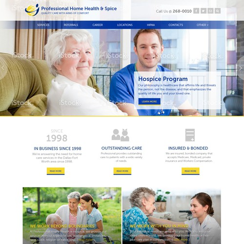 Home Health & Spice Website Design
