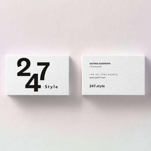 Logo and business card for a fashion brand