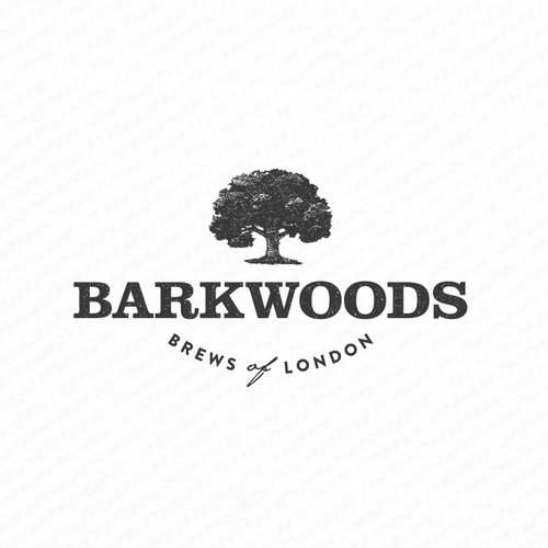 premium coffee/tea/health & wellbeing logo for Barkwoods.