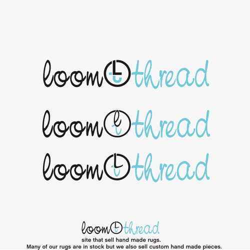 Create a logo and font for our name loom and thread to incorporate for our rug designing website