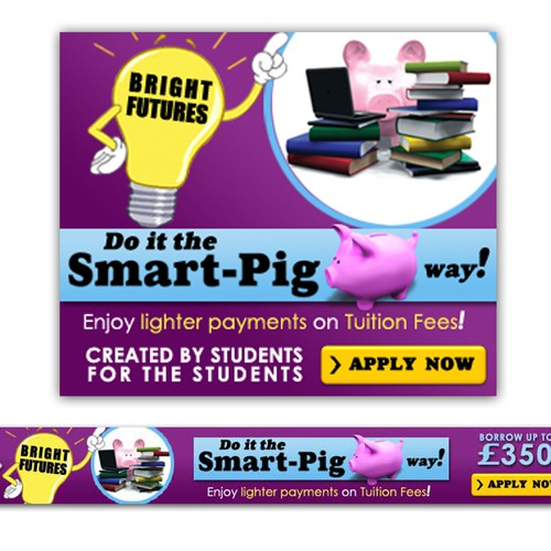 Create the next banner ad for Smart-Pig.com