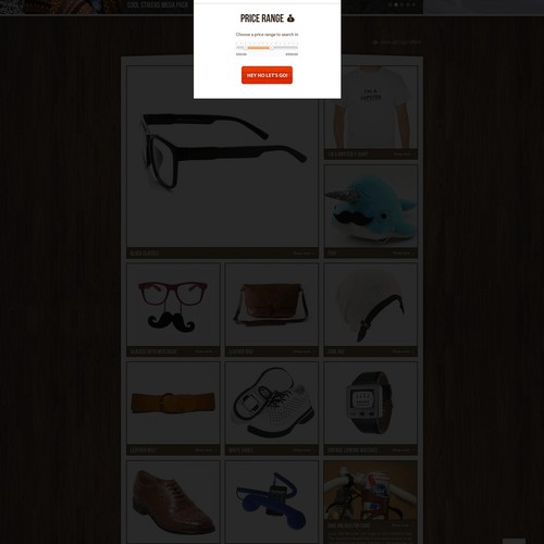 Trendy and fresh webdesign seeked for a new gift/present online shop!