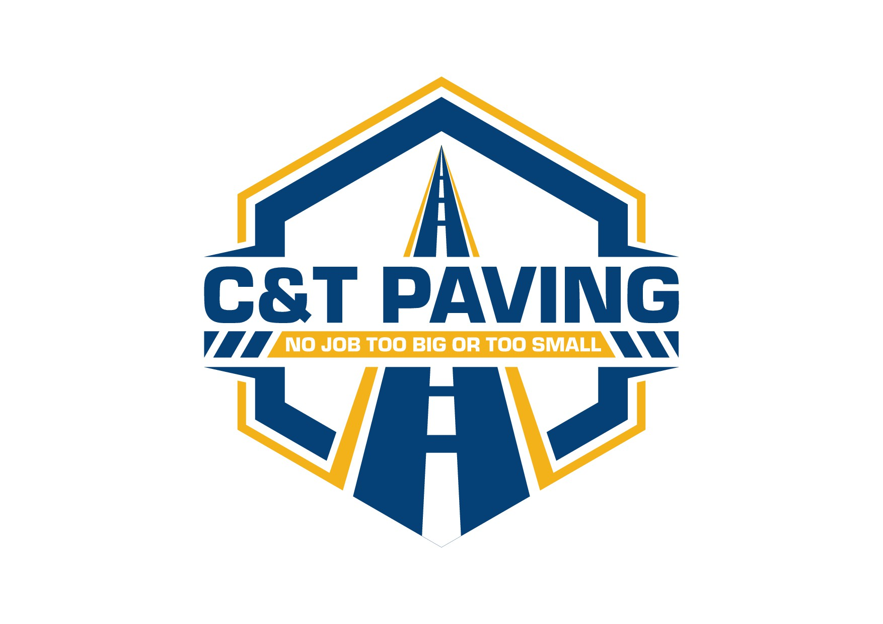 Logo for asphalt paving company. Would like a road in the design. Like blues and yellows.