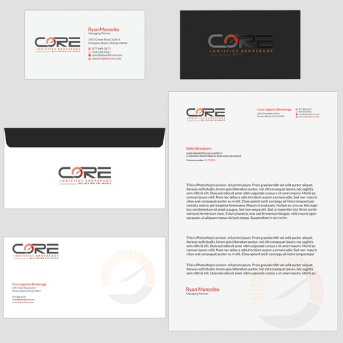 Business card, Letterhead and Envelope