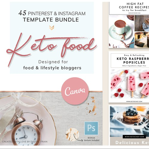 Template pack for Pinterest & Instagram