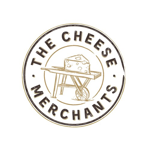 Bold logo for The Cheese Merchants