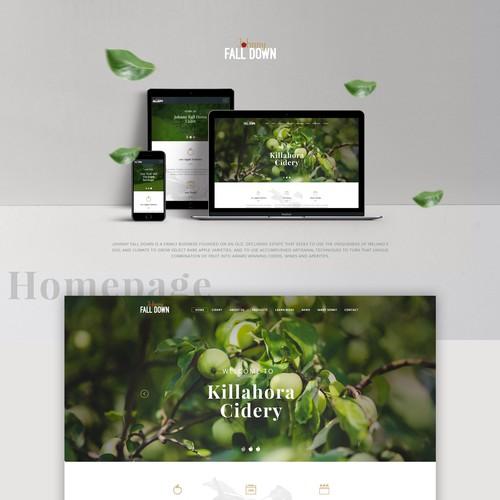 Cidery website design