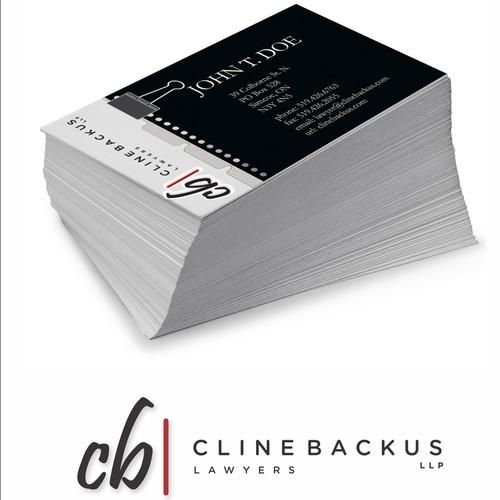 Business Card design for Cline Backus LLP