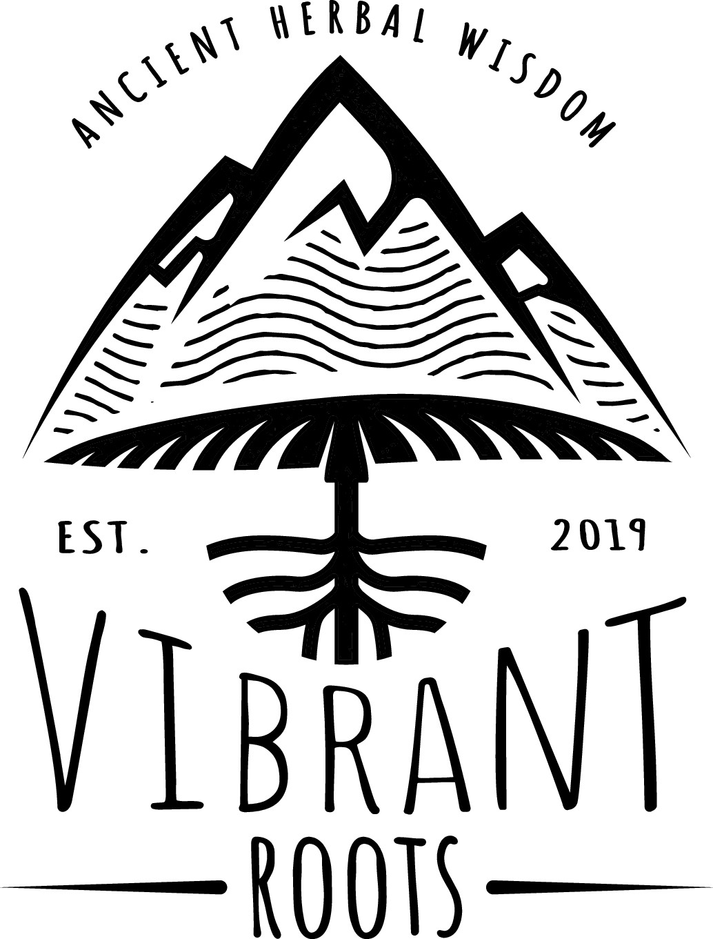 Rework of Vibrant Roots Logo - Print