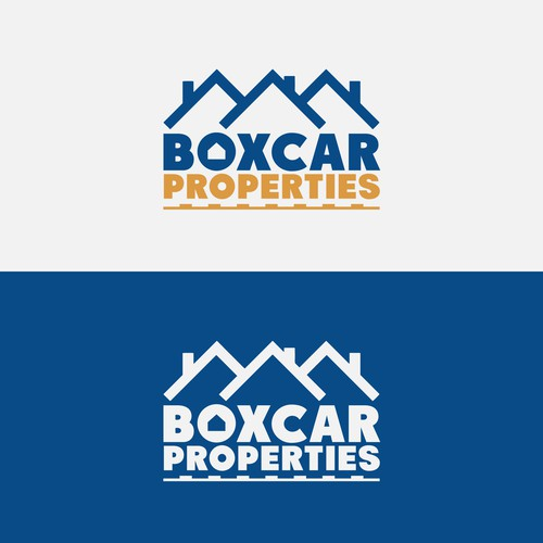 Create a vintage industrial logo for Boxcar Properties!