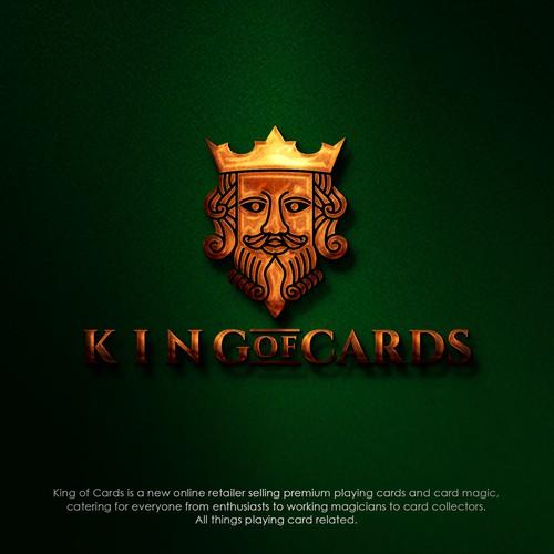 King of cards logo design