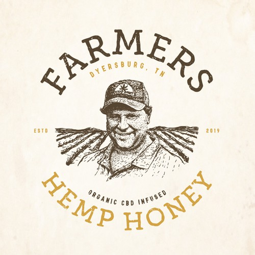 CBD honey farm logo