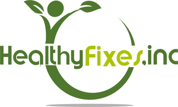 Create a great logo for my company named Healthy Fixes Inc. We sell health supplements