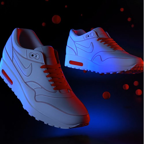 Nike Air 3D rendering