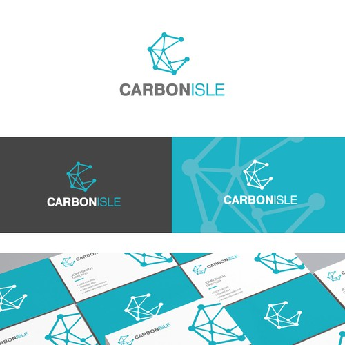 Logo and branding idea for Carbon Isle