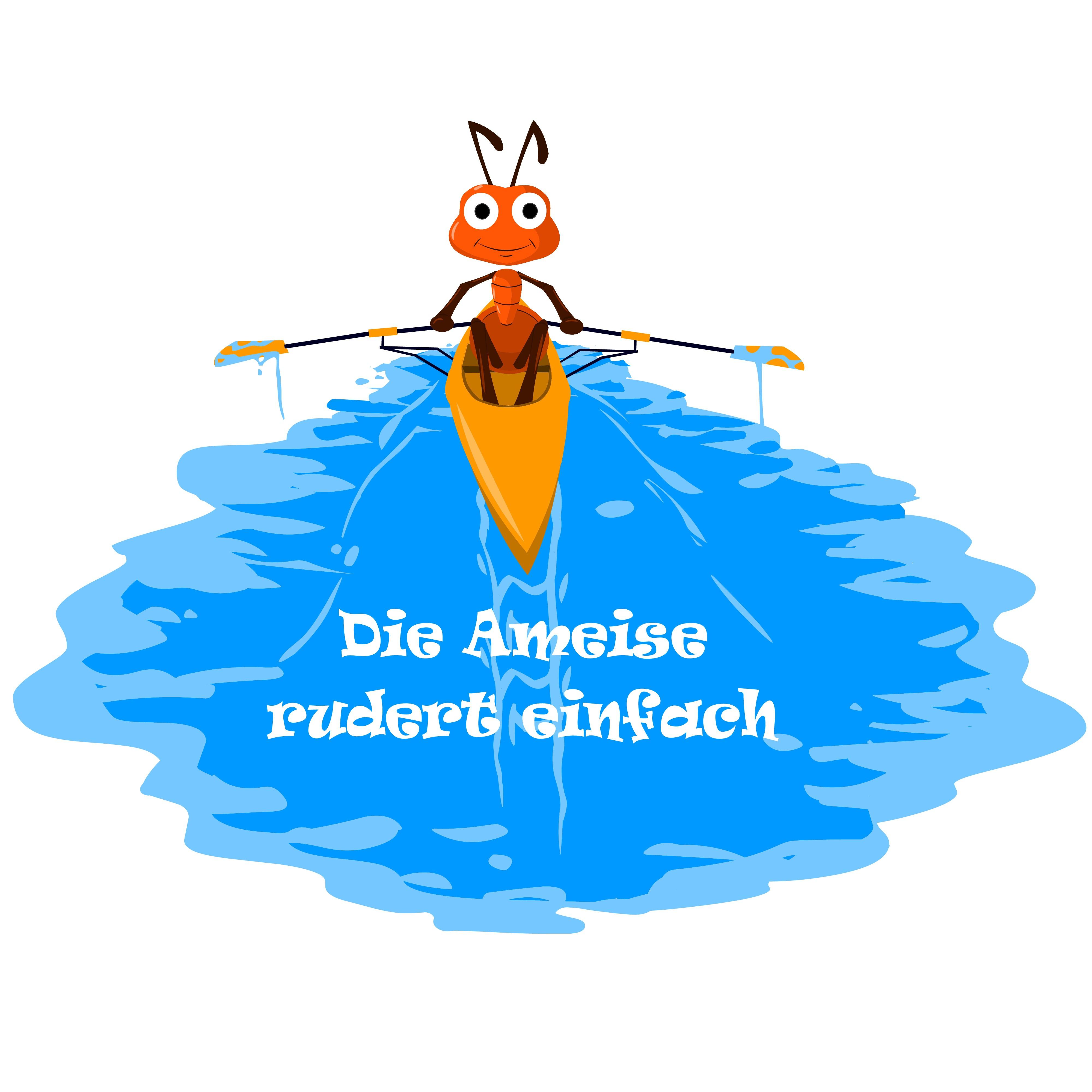 "Illustration ""rowing ant"""