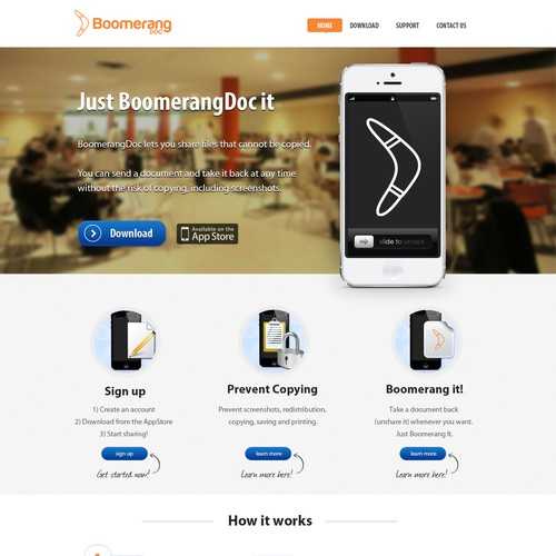 New website design wanted for BoomerangDoc